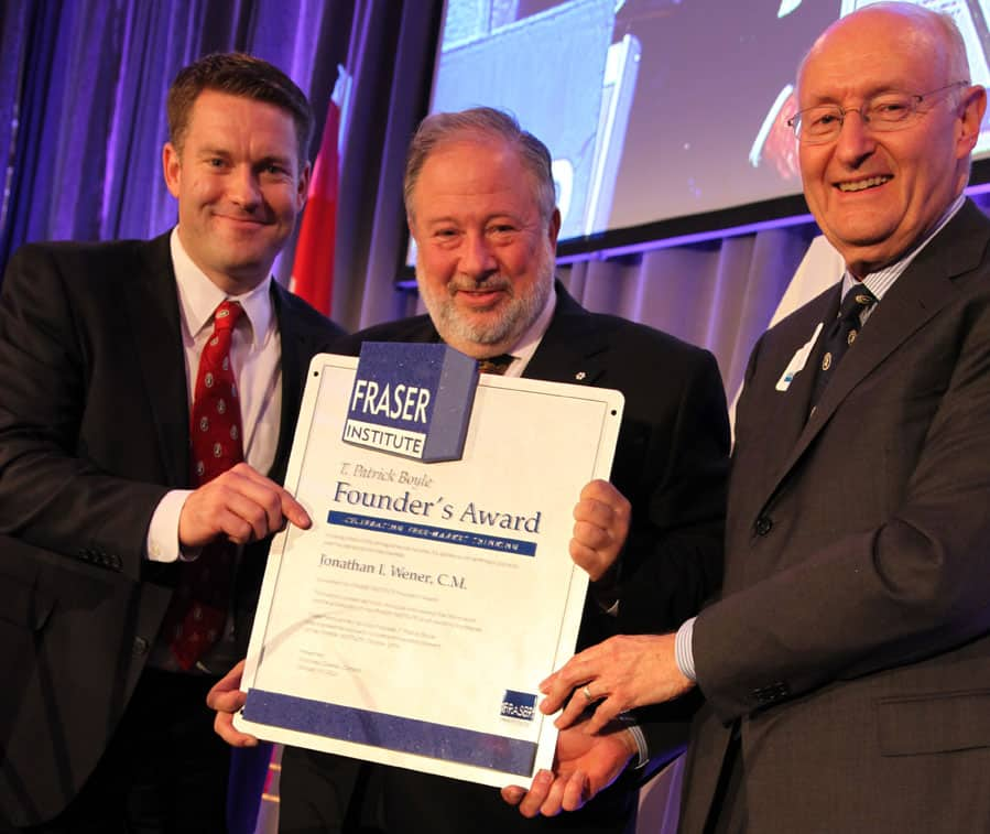The Fraser Institute honours Montreal builder Canderel CEO Jonathan Wener