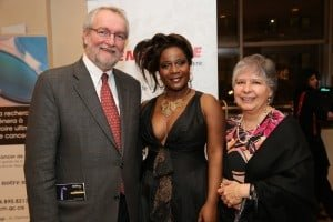 Marie-Josee Lord with sponsors for Concert Contre le Cancer (ICM)