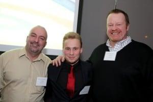Carl Mainguy & Robert Sears of Kurling for Kids, Yehonatan Naidich (center)