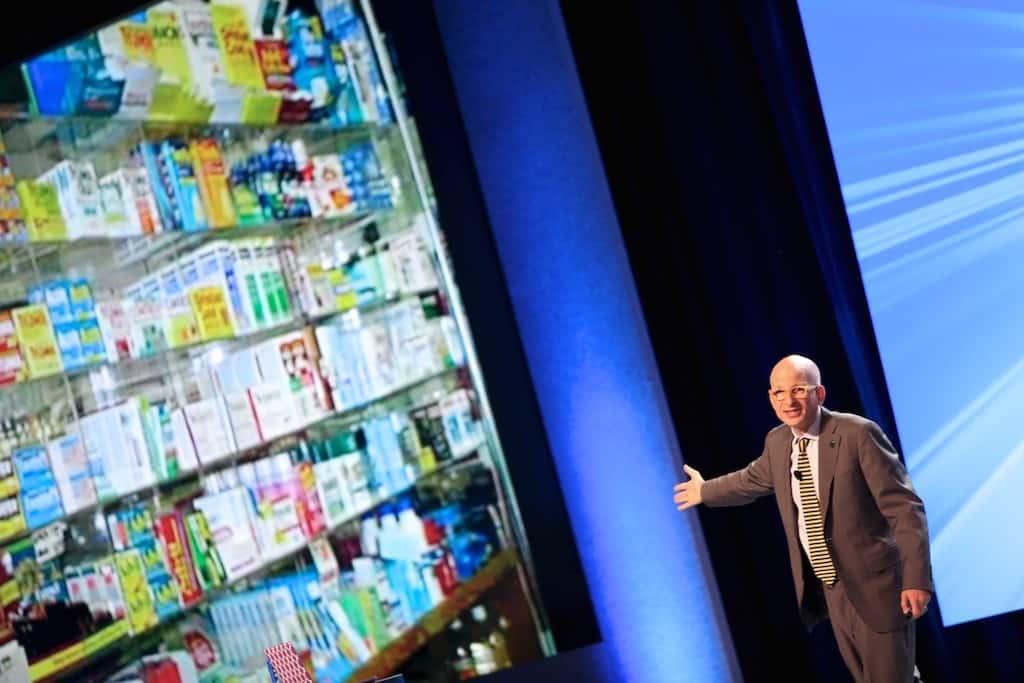 Seth Godin presenting at the Cisco Partner Summit 2015 in Montreal