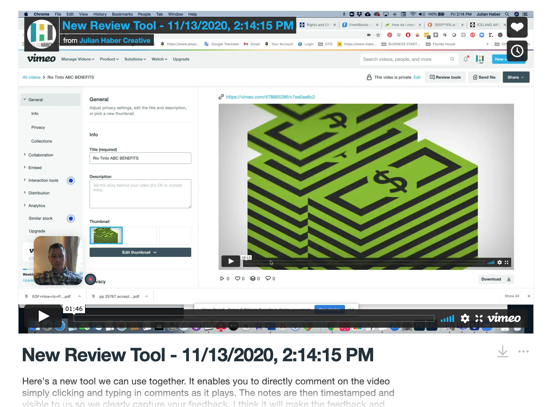Review Tool screenshot